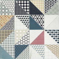 Dekor Rako Deco mix barev 60x60 cm, mat, rektifikovaná