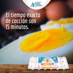 Para huevos cocidos perfectos, la cocción exacta son 15 minutos.  #huevo #HuevoSanJuan