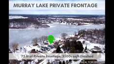 Private frontage on Murray Lake! Brought to you by John Rice REALTOR, Berkshire Hathaway HomeServices Michigan Real Estate