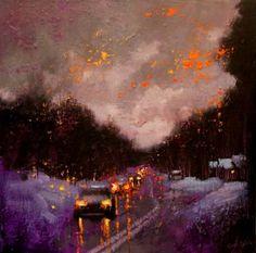 "Saatchi Art Artist Chin h Shin; Painting, ""A Village After Snow"" #art"