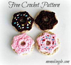 Me Making Do: Free Crochet Doughnut Applique Pattern