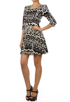 Aztec 3/4 Sleeve Dress- oh if only I could be small enough to wear this!!