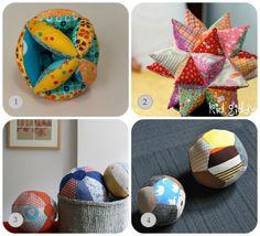 Quattro Tutorial completi di Cartamodello per fare diversi tipi di palline imbottite in stoffa... ...così i piccoli calciatori possono giocare a palla tranquillamente dentro casa senza risch...