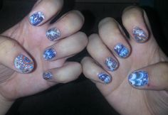 Application #22 Marble Me Blue & Psychedelic Style Jamberry