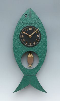 Wanda Pendulum Clock by Leonie Lacouette - Green (Wood Clock) Metal Clock, Wooden Clock, Wooden Diy, Clock Art, Diy Clock, Clock Ideas, Unusual Clocks, Cool Clocks, Traditional Clocks
