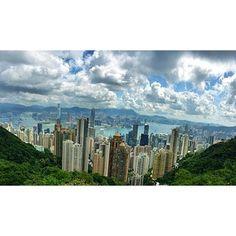 View from Peak Tower, Hong Kong  July 15, 2014