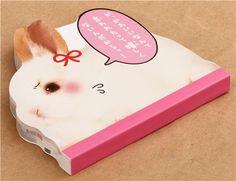 die-cut rabbit bunny animal Note Pad by Q-Lia 3