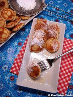Poffertjes - little buckwheat pancakes if you sub half the flour with buckwheat like the original ones from Europe. Yeast is the leavener for these pancakes