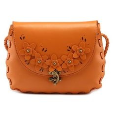 Sweet New Bag Summer Small Crossbody Button Lock Flower Bags rr5RFxTZA