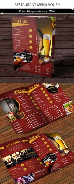 Clean Design Wine List Template  Clean Design And Menu Templates