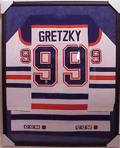 One way to have a hockey jersey framed. Sleeves are pressed. But obviously Jacob's jersey and not a hockey jersey