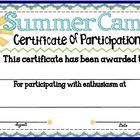 If you are teaching at a summer camp this year this participation summer camp participation certificate 1 yadclub Choice Image
