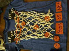 MY SONS 100TH DAY OF SCHOOL SHIRT! BASKETBALL NET FOR A BASKETBALL LOVING BOY!