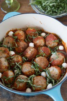 Chicken Parmesan Meatballs from @Gaby Saucedo Saucedo Saucedo Saucedo Dalkin