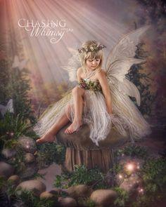 *+*Mystickal Faerie Folke*+*... Fairy Portrait... By Artist Chasing Whimsy Fairy Art...