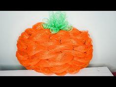 Pumpkin Mesh Wreaths, Deco Mesh Pumpkin, Fall Mesh Wreaths, Halloween Mesh Wreaths, Fall Deco Mesh, Diy Fall Wreath, Wreath Ideas, Winter Wreaths, Thanksgiving Wreaths