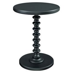 Powell Round Spindle Table - Black