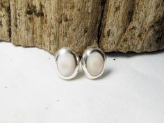 Lovely Sterling Silver White Mother Pearl Oval Dome Earrings,Shell Earring,Oval Earring,Mother Parl Earring,Personalized Gifts,Gifts For Her by Supsilver on Etsy