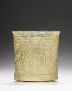 Beaker, Roman, 1st century, Glass, 7 x 7 cm (2 3/4 x 2 3/4 in.)