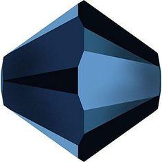 5328 Swarovski Crystal Bicone Beads Crystal Metallic Blue 2X-Swarovski Bicone Beads-4mm - Pack of 25-Bluestreak Crystals