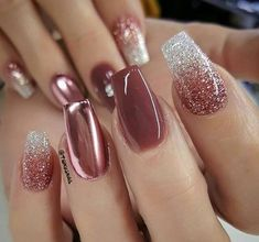 39 Trendy Fall Nails Art Designs Ideas To Look Autumnal & Charming - autumn nail. - Coffin nails designs - 39 Trendy Fall Nails Art Designs Ideas To Look Autumnal & Charming - autumn nail. 39 Trendy Fall N Fall Nail Art Designs, Diy Nail Designs, Toe Designs, Beauty Nail, Bride Nails, Wedding Nails Design, Autumn Nails, Gold Nails, Glitter Nails