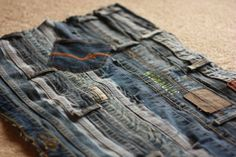 Turn your old jeans into a rug for a unique look –– 18 Ideas For Upcycling Denim