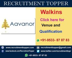 Aavanor Systems Walkins for Freshers at Chennai http://www.recruitmenttopper.com/aavanor-systems-walkins-for-freshers/ #Jobs  #Walkins