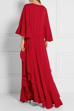 Lanvin | Ruffled crepe de chine gown | NET-A-PORTER.COM