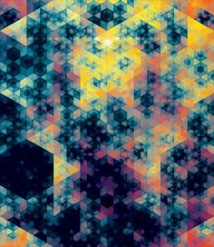 Kaleidoscopic and Hypnotic Geometric Compositions by Andy Gilmore