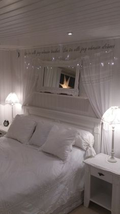 White bedroom Long round pillow closed with ribbon...very pretty and easy to make