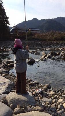潮目ブログ   201401 三田の癒し場「小柿渓谷放流釣場」