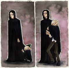 This. Is. Adorable.>> In the second picture, Severus is just like, Seriously, you're a teenager. What is happening.
