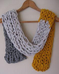 tshirt scarf, @Katy Powers, you should follow this board, she has great ideas for repurposing tshirts!