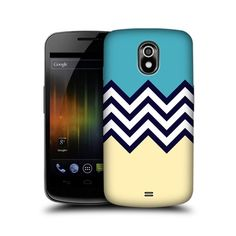 Head Case Blue Cream Colour Block Chevron Case FOR Samsung Galaxy Nexus I9250 | eBay $7.72