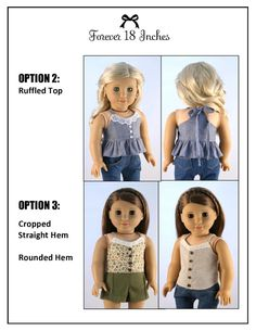 """Endless Summer Halter Dress and Top 18"""" Doll Clothes"""
