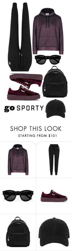 """go sporty 3"" by ichaermayani on Polyvore featuring Converse, Markus Lupfer, Yves Saint Laurent, Puma, STELLA McCARTNEY, rag & bone and polyvorefashion"