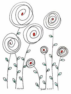 © Copyright Sharon L. All rights reserved Doodle Drawings, Easy Drawings, Doodle Art, Doodle Lettering, Hand Lettering, Hand Embroidery Patterns, Embroidery Stitches, Line Drawing, Drawing Sketches