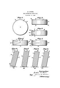 USA Patent for 1940s Hockey Puck by Arthur Ross Drawings