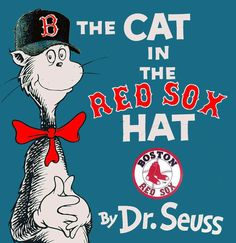 Theodore Geisel [aka Dr. Seuss] grew up in Springfield, MA, so he was likely a Red Sox fan.  Not sure, but this book looks great!