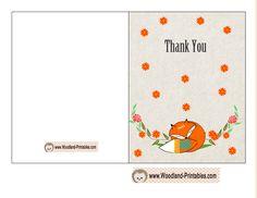 Cute Fox Thank You Card