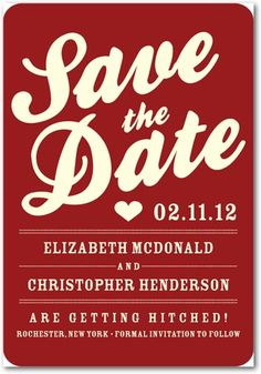 "This in magnet form would be an awesome ""Save the date"" idea!"