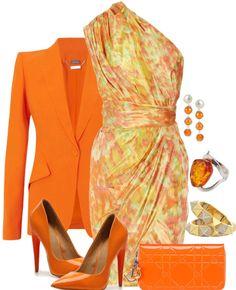 GORGEOUS Orange & Citrus...LOVE those heels! ♥