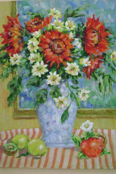 Sunflowers. Acrylic framed SOLD