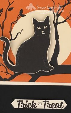 Super Simple Halloween Card with Spooky Night and Spooky Cat - 2