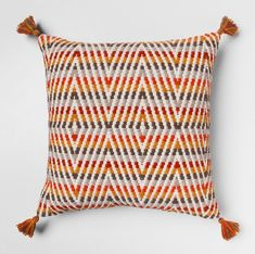 Out of chairs? Plop down on one of these Multi Zigzag Oversize Throw Pillows from Threshold™ for comfy seating on the floor. Your kids will have fun lounging on these oversized pillows as well as giving you a cushy spot to sit when playing with them on the floor. Even guests can enjoy them for an informal get-together.
