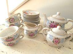 vintage child's tea set china set
