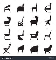 Find Chair Icons Set Side View stock images in HD and millions of other royalty-free stock photos, illustrations and vectors in the Shutterstock collection. Architect Jobs, Doodle Art Journals, Geometric Logo, Hanging Pictures, Sign Design, Icon Set, Cool Drawings, Vector Art, Illustration