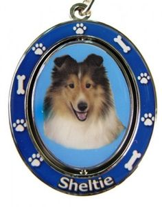 Sheltie Key Chain with spinning center $6.99