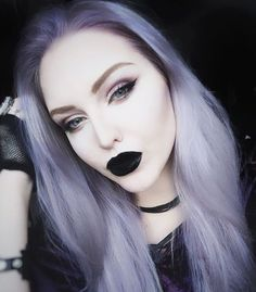 Pastel goth lvl too high @Manicpanicnyc Ultra Violet + Pastelizer ❄️ Cross Gloss in Raven