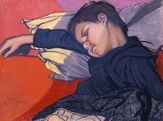 Stanisław Wyspiański, Śpiący Mietek  |  1904 pastel, papier, 46 × 61 cm, Muzeum Pałac Herbsta (Oddział Muzeum Sztuki w Łodzi)